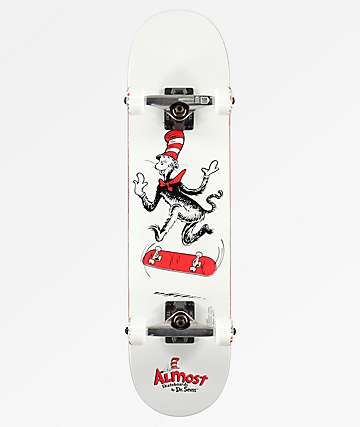 "Almost x Dr. Seuss Cat Tre 7.0"" Skateboard Complete"
