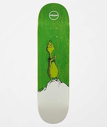 """Almost x Grinch Yuri R7 8.38"""" Skateboard Deck"""