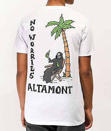 Altamont No Worries White T-Shirt