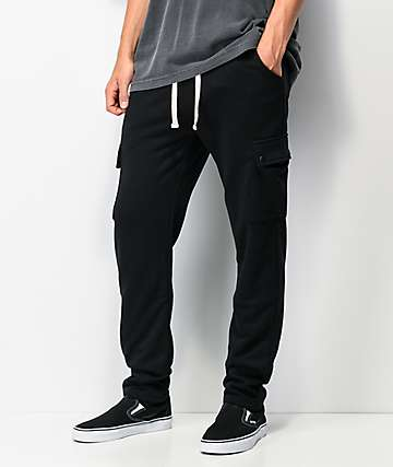 American Stitch Black Cargo Sweatpants