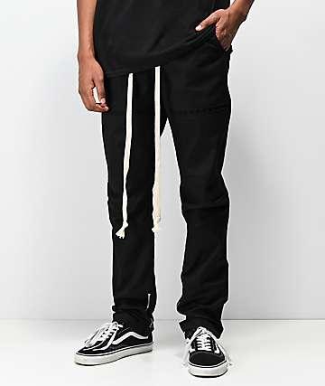 American Stitch joggers utilitarios de sarga negra