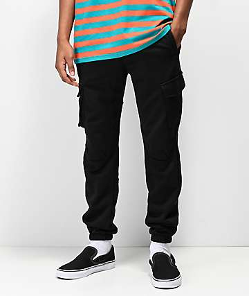 American Stitch pantalones de polar negro