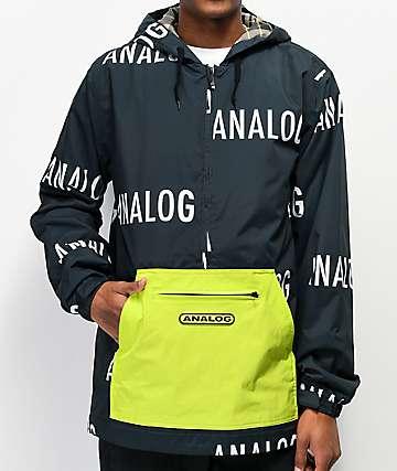 Analog Chainlink Black & Green 10K Anorak Snowboard Jacket