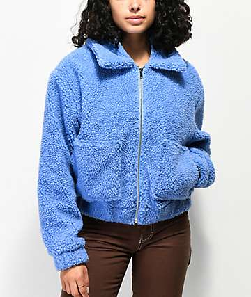Angel Kiss Wubby Light Blue Sherpa Jacket