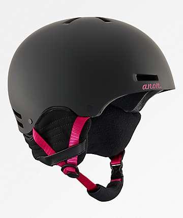 Anon Greta Black & Cherry Snowboard Helmet