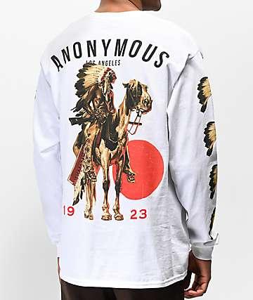 Anonymous Chief camiseta blanca de manga larga