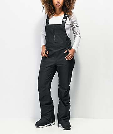 Aperture Adventure Black Denim 10K Snowboard Bib Pants
