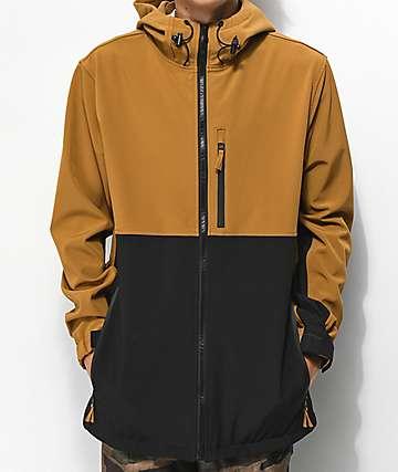 Aperture Alpine 10K chaqueta de snowboard negra y marrón