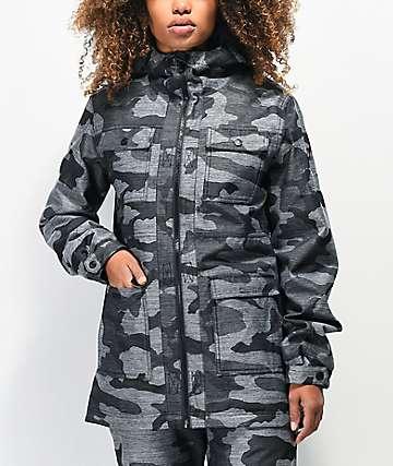 Aperture Aster 10K chaqueta de snowboard de camuflaje gris
