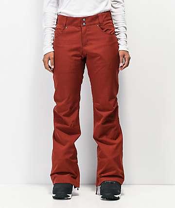 Aperture Crystaline 10k pantalones de snowboard de color borgoña