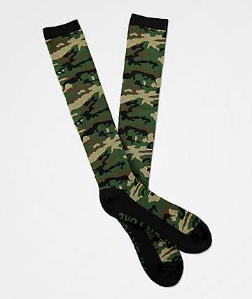 Aperture Dowdy Camo Snowboard Socks