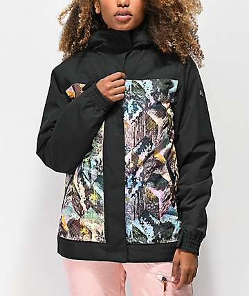 Aperture Glisten Abstract Black 10K Snowboard Jacket