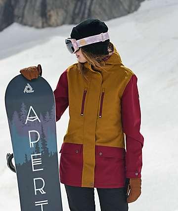Aperture Jibber Maroon & Tobacco Snowboard Jacket
