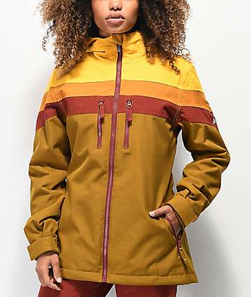 Aperture Ranger 10K chaqueta de snowboard granate y marrón de rayas