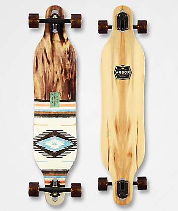 """Arbor Axis Flagship 40"""" Drop Through Longboard Complete"""