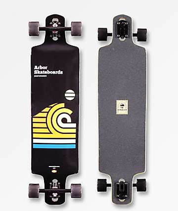 "Arbor Drop Cruiser Draplin 38"" Double Drop Longboard Complete"