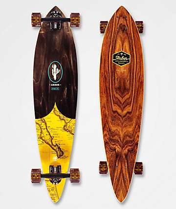 "Arbor Fish Groundswell 37"" Pintail Longboard Complete"