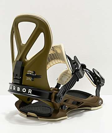 Arbor Hemlock Frank April Red Snowboard Bindings 2020