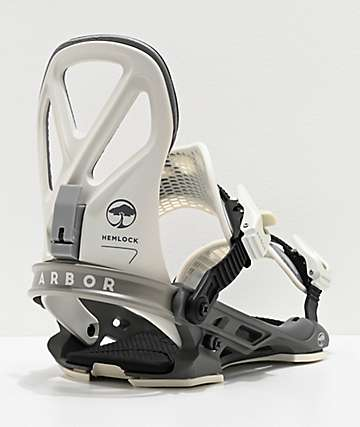 Arbor Hemlock Grey Snowboard Bindings 2020