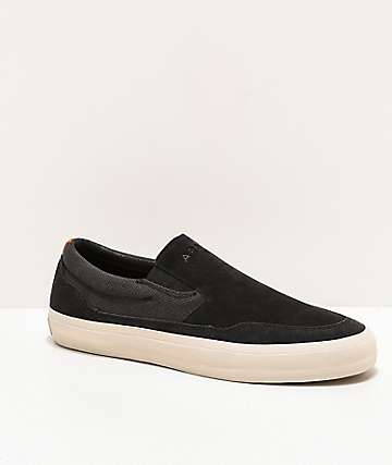 Arbor Venice Black & Off White Slip-On Skate Shoes