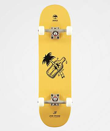 "Arbor Whiskey Palm Bottle Artist Collaboration 8.5"" Skateboard Complete"
