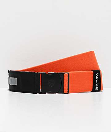 Arcade Nomade Orange & Reflective Silver Web Belt