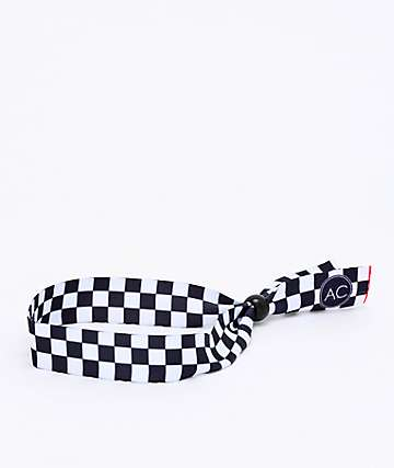 Artist Collective Check Black & White Festival Bracelet