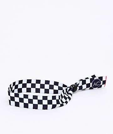 Artist Collective Check Black & White Festival Bracelet
