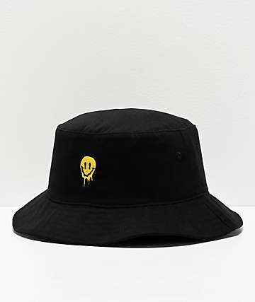 Artist Collective Drip Face Black Bucket Hat