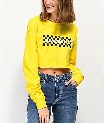 Artist Collective Eskeetit Yellow Crop Long Sleeve T-Shirt