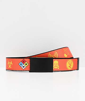 Artist Collective Hazard Orange Web Belt