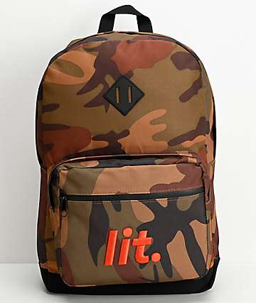 Artist Collective Its Lit Camo Backpack