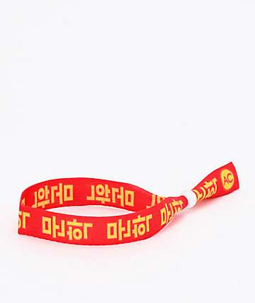 Artist Collective Kanji Red Festival Bracelet