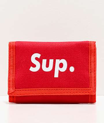 Artist Collective Sup Red Trifold Wallet