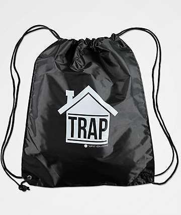 Artist Collective Trap House Black Cinch Bag