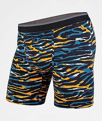 BN3TH Tiger Teal & Orange Boxer Briefs