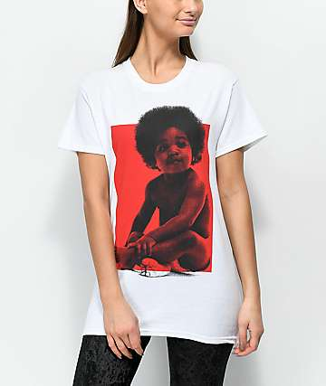 Baby Biggie Ready To Die Tour White T-Shirt