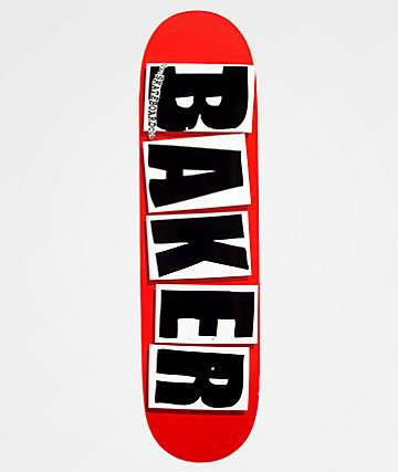 "Baker Brand Logo Black & Red 8.38"" Skateboard Deck"