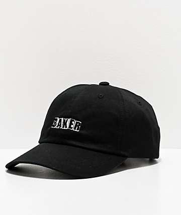 Baker Logo Black & White Strapback Hat