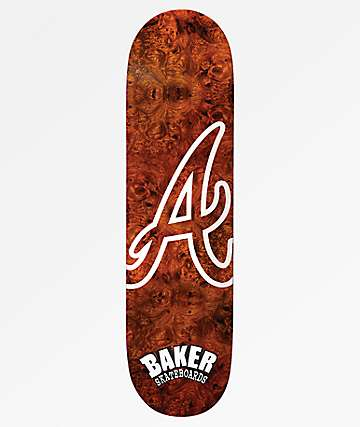"Baker Reynolds Atlanta Burl Wood 8.12"" Skateboard Deck"