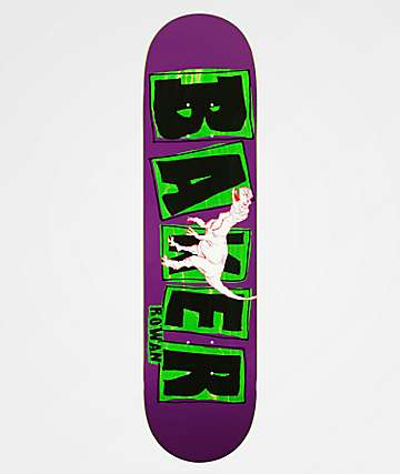 "Baker Rowan Name Flash 7.87"" Skateboard Deck"