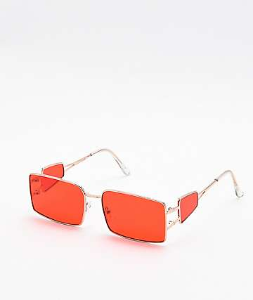 Bellamy Red Rectangle Sunglasses