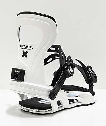 Bent Metal Joint White Snowboard Bindings 2020