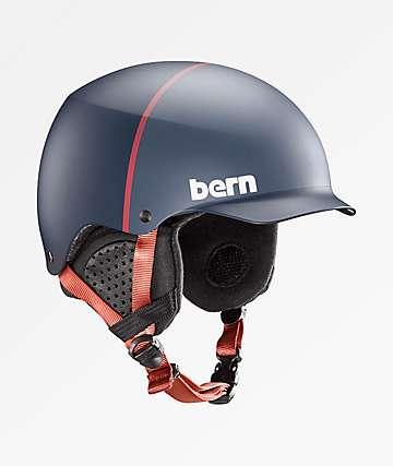 Bern Baker Matte Denim Blue Snowboard Helmet