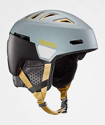 Bern Heist casco de snowboard verde pizarra mate y dorado