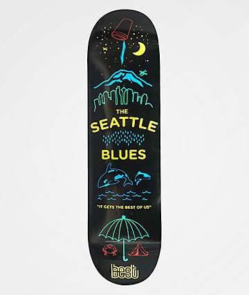 "Best Seattle Blues 8.25"" Skateboard Deck"