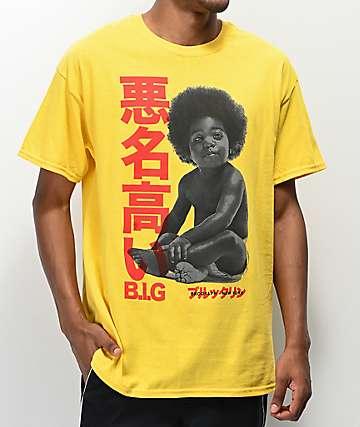 Biggie Baby Kanji Yellow T-Shirt