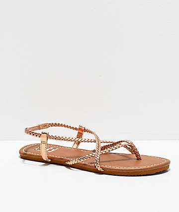 Billabong Crossing Over Brown & Rose Gold Sandals