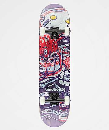 "Birdhouse Lizzie Armanto Favorites Purple 7.75"" Skateboard Complete"