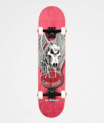 "Birdhouse Tony Hawk Falcon 4 Red 7.5"" Skateboard Complete"